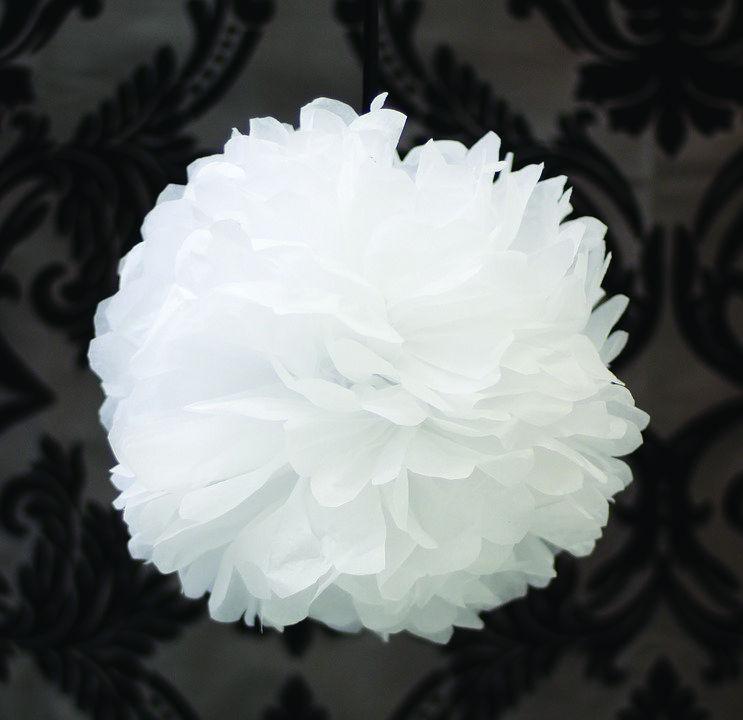 pompon papier de soie